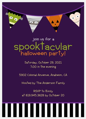 Purple Spooktacular Halloween Photo Cards