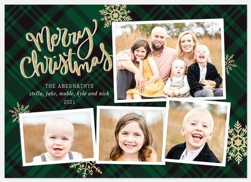 Snowflake Medley Holiday Photo Cards