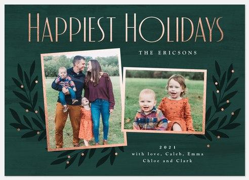 Fancy Foliage Holiday Photo Cards