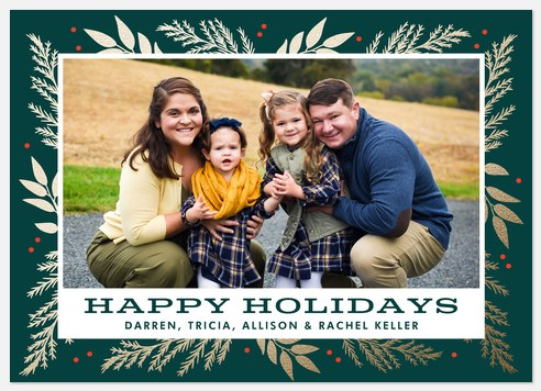 Radiant Flora Holiday Photo Cards