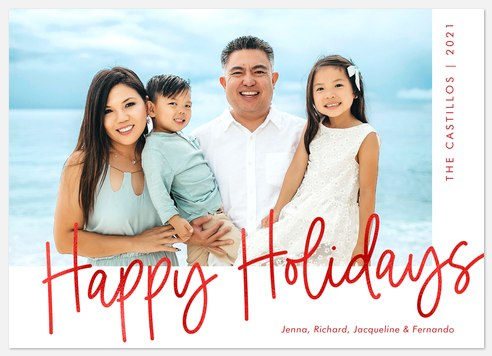 Modern Greetings Holiday Photo Cards