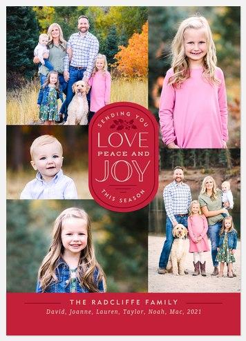 Love, Peace & Joy Holiday Photo Cards