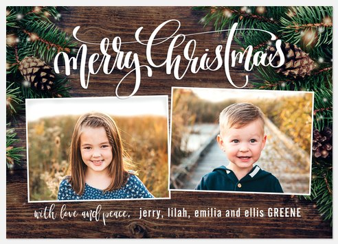 Cabin Lights Holiday Photo Cards