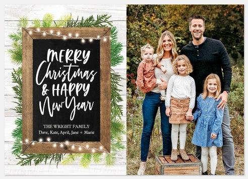 Blackboard Cheer Holiday Photo Cards