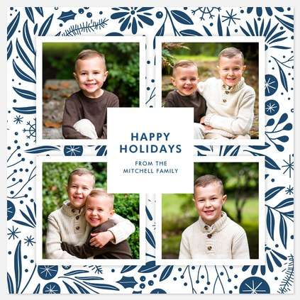 Christmas Delft Holiday Photo Cards