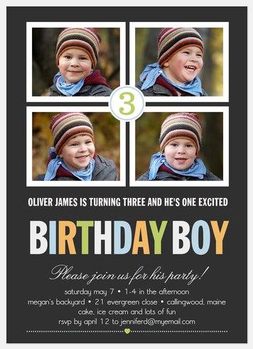 Big Boy Birthday Kids' Birthday Invitations