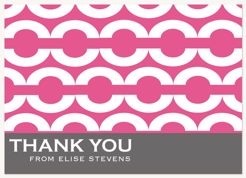 Thank You Cards for Women, Chain Mail Design