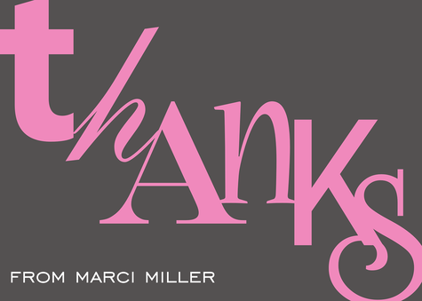 Thank You Cards for Women, Bright Thanks Design