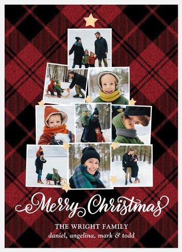 Festive Family Tree Holiday Photo Cards