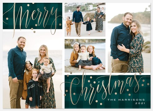 Elegant Plaid Holiday Photo Cards