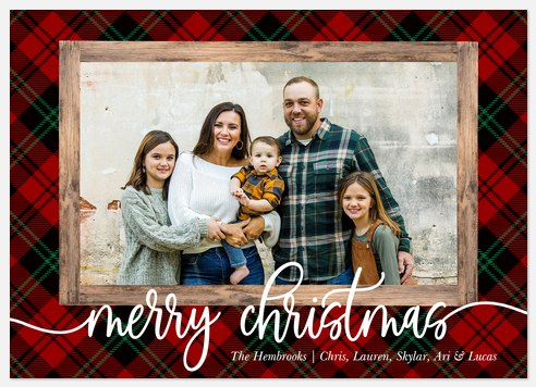Winter Cabin Holiday Photo Cards