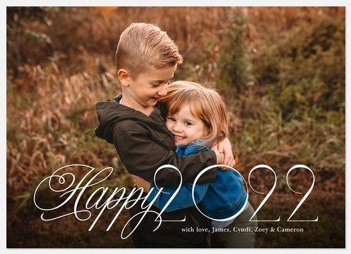 Elegant Year Holiday Photo Cards