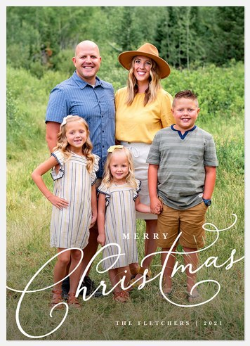 Holiday Script Holiday Photo Cards
