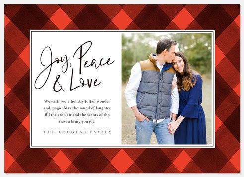 Joy, Peace and Love Holiday Photo Cards