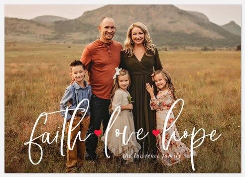 Faith, Love & Hope Holiday Photo Cards