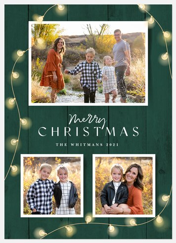 Country Lights Holiday Photo Cards