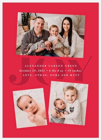 Joyful Introduction Holiday Photo Cards