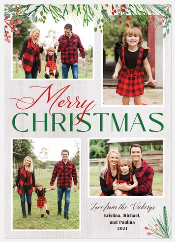 Classic Boughs Holiday Photo Cards