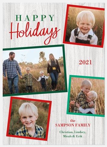 Festive Frames Holiday Photo Cards