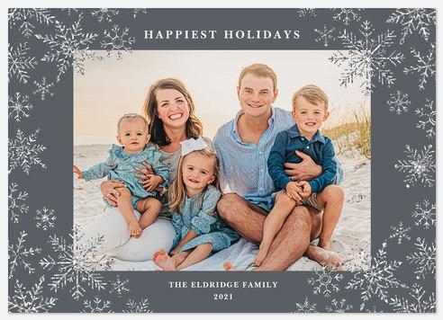Tinsel Snowflakes Holiday Photo Cards