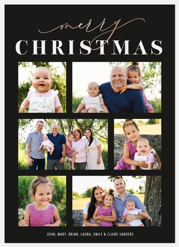 Chic Collage Holiday Photo Cards