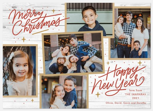 Cabin Collage Holiday Photo Cards