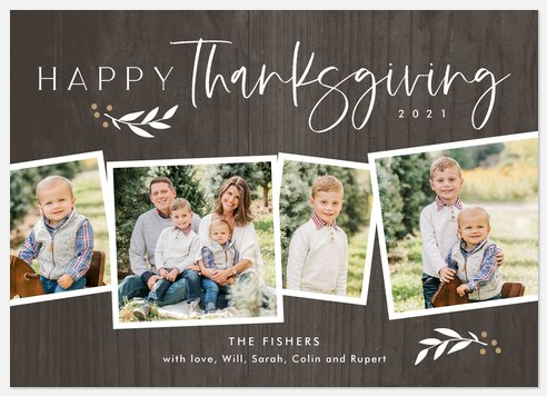 Rustic Branches Thanksgiving Cards