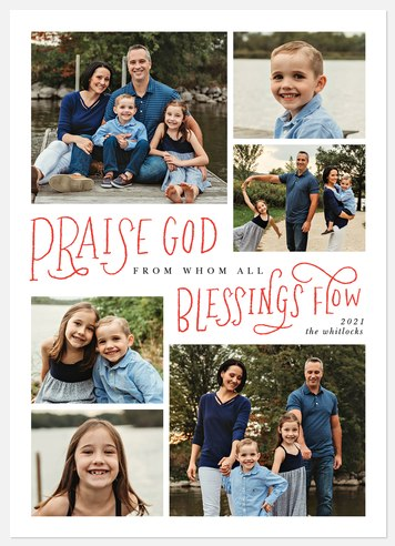 All Blessings Flow Holiday Photo Cards