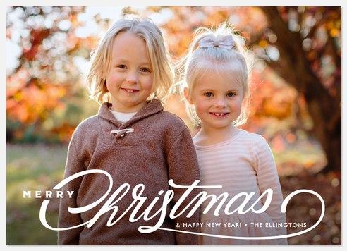 Yuletide Twirl Holiday Photo Cards