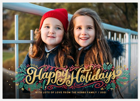 All The Glitter Holiday Photo Cards