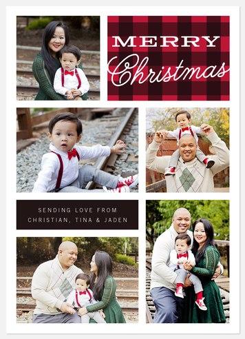 Merry Tartan Holiday Photo Cards