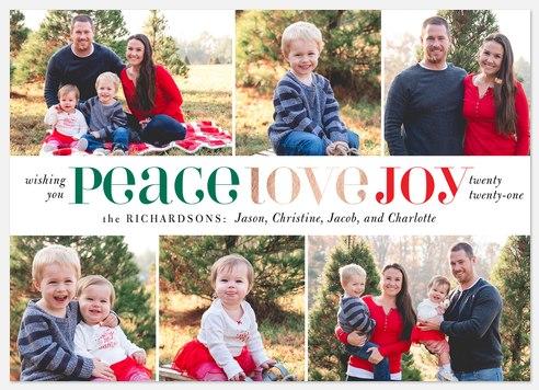 Seasoned Collage Holiday Photo Cards
