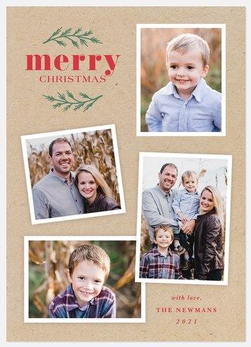 Kraft Scrapbook Holiday Photo Cards