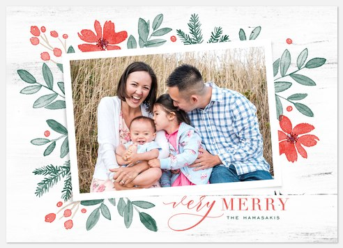 Fresh Trimmings Holiday Photo Cards
