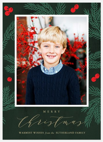 Wintergreen Forest Holiday Photo Cards