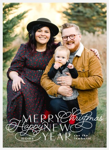 Typographic Whimsy Holiday Photo Cards