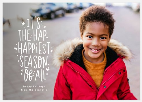 Hap-happiest Season Holiday Photo Cards