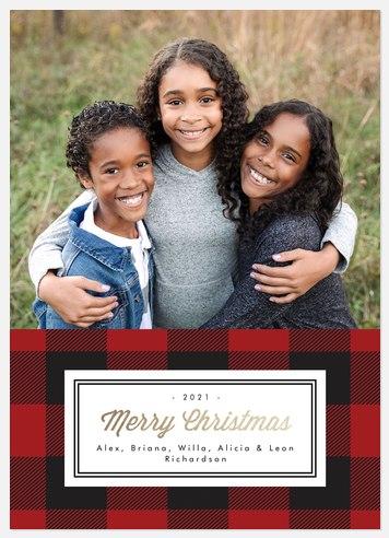 Plaid Tidings Holiday Photo Cards