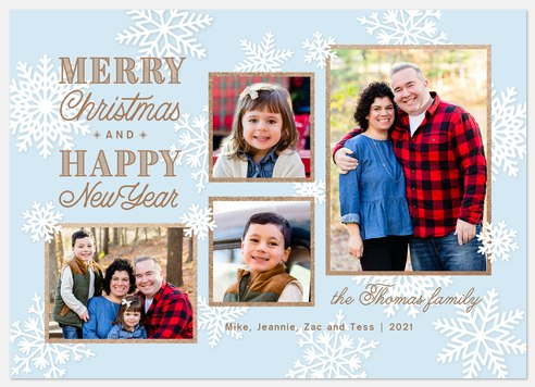 Paper Snowflakes Holiday Photo Cards