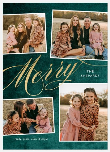 Luxe Velvet Holiday Photo Cards