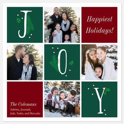 Grid of Joy Holiday Photo Cards