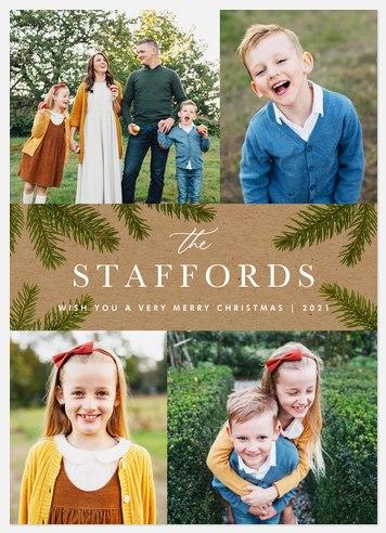 Pine & Kraft Holiday Photo Cards