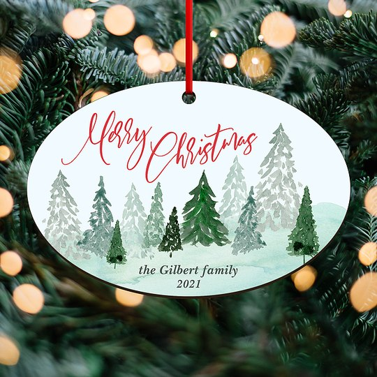Forest View Custom Ornaments