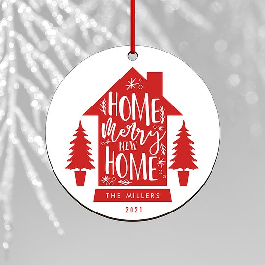 New Home Custom Ornaments
