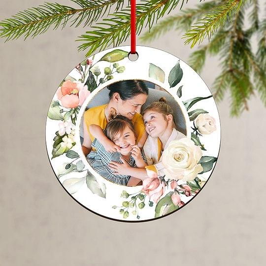 Floral Wreath Custom Ornaments